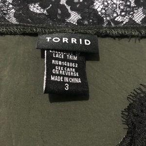 torrid Tops - Torrid Pleated Challis Lace Trim Cami